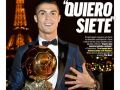 كريستيانو رونالدو يفوز بالكرة الذهبية الخامسة - صور