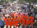 موظفو الأونروا يحتشدون بغزة وإضراب شامل الاثنين المقبل