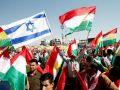رفع الأعلام الإسرائيلية خلال تجمع ضخم لأكراد العراق في أربيل - شاهد الصور