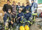 """فلسطين ترسل طاقم متخصص من الدفاع المدني لاغاثة منكوبي اعصار """"ايرما """""""