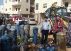 القدس ... الدفاع المدني يتلف 108 اسطوانة غاز غير مطابقة للمواصفات