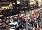 الاردنيون يخرجون بمسيرات غاضبة تطالب بالغاء اتفاقية الغاز الاسرائيلي