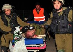 اصابة جنديين و 3 فلسطينيين بحادث سير قرب مستوطنة بنيامين
