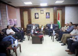 محافظ طولكرم عصام أبو بكر يلتقي وزير الزراعة د. سفيان سلطان