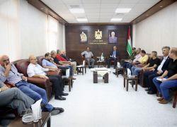 المحافظ أبو بكر يترأس اجتماع اللجنة التوجيهية لبحث التحضيرات لإطلاق خطة تنمية العنقود الزراعي بمحافظة طولكرم