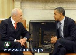 """بيرس يهاجم إيران .. وأوباما يؤكد مساندته لـ""""إسرائيل"""""""