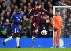 ميسي يقود برشلونة لتعادل ثمين امام تشيلسي