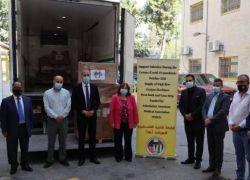 الجمعية الفلسطينية الأميركية تتبرع بـ28 جهاز ضخ أكسجين لوزارة الصحة