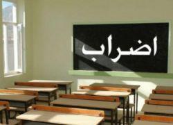 معلمون يضربون في الخليل إحتجاجاً على عدم صرف الرواتب