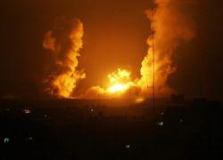 سلسلة غارات اسرائيلية على غزة