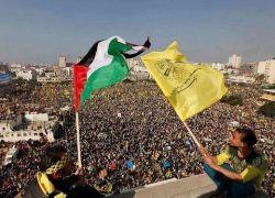 مئات الالاف يحيون مهرجان انطلاقة حركة فتح في قطاع غزة