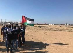 اصابة 10 مواطنين على حدود غزة