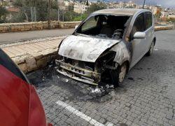 إحراق مركبات وخط شعارات عنصرية معادية في قرية اكسال بالناصرة