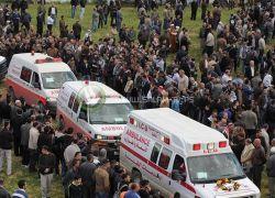 وسط حزن وحداد ... فلسطين تودع معتمريها الذين قضوا في الحادث