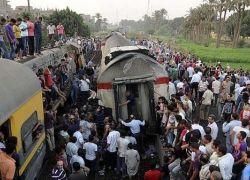 مقتل 47 تلميذاً وإصابة 13 آخرين بحادث تصادم بين حافلة وقطار جنوب القاهرة