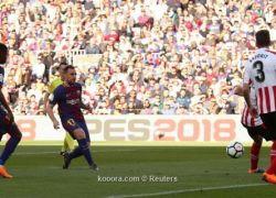 ميسي يقود برشلونة لمواصلة التألق والتغلب على بيلباو بثنائية