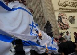 غضب في مصر بسبب استبدال العلم الفلسطيني بالإسرائيلي
