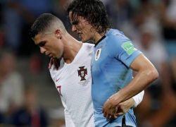 كافاني يلحق الهزيمة بالبرتغال ورونالدو يلحق بميسي