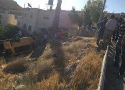 5 اصابات بينهم سيدة حامل بحادث سير شرق بيت لحم