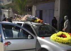 """غزة- زفة لمولود عبر """"النطف المهربة"""""""