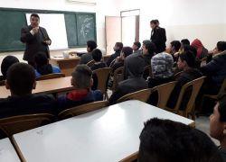 د. محمد ابو عمر يعقد محاضرة حول الجرائم الالكترونية لطلبة مدرسة الشهداء الثانوية في بلدة بلعا بطولكرم