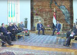 الرئيس والسيسي يؤكدان أهمية الإسراع بعقد مؤتمر للسلام