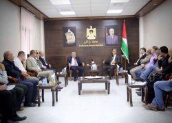 محافظ طولكرم عصام ابو بكر يلتقي وزير الزراعة د. سفيان سلطان