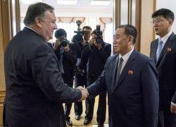 بومبيو يبدأ محادثات نزع نووي كوريا الشمالية