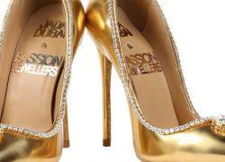 """""""من الذهب والألماس""""... دبي تعرض أغلى حذاء نسائي في العالم"""