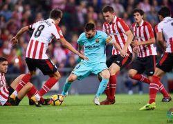 برشلونة يهزم اتلتيكو بلباو ويواصل صدارة الدوري الاسباني