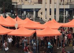 اللبنانيون يواصلون ثورتهم وينصبون الخيام