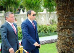 العاهل الأردني والرئيس المصري يؤكدان تكثيف الجهود لدعم شعبنا الفلسطيني