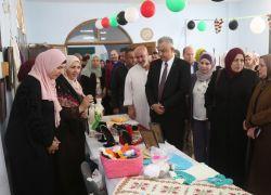 افتتاح معرض الأشغال اليدوية والمنتجات النسوية في طولكرم .. فيديو