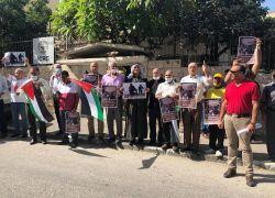 خلال وقفة في طولكرم: إدانه لاستمرار اعتقال الناشط خيري حنون .. فيديو