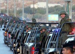 المئات من رجال الامن يدخلون نابلس لفرض القانون والنظام