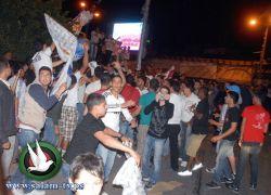 جماهير طولكرم تحتفل بفوز ريال مدريد في مباراة الكلاسيكو