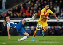 برشلونة يتعثر بديربي كتالونيا ويتقاسم الصدارة مع ريال مدريد