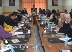 محافظ طولكرم يترأس اجتماع المجلس التنفيذي في المحافظة