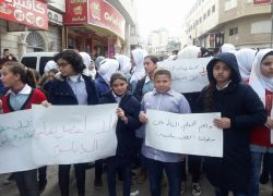 """طولكرم: وقفة تضامنية مع الأسرى واحتجاجية ضد تقليصات """"الأونروا"""" .. شاهد الفيديو"""