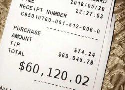 """بسبب دجاج مقلي ...سيدة تدفع """"بقشيش"""" بقيمة 60 ألف دولار"""