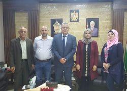 محافظ طولكرم عصام أبو بكر يستقبل وفداً من الإتحاد العام للكتاب والأدباء الفلسطينيين