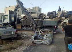 الشرطة تتلف 40 مركبة غير قانونية بمدينة يطا في الخليل