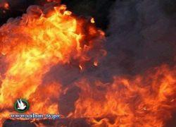 حريق بالقرب من مستوطنة بيتار عليت غرب بيت لحم
