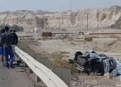 مقتل 3 اسرائيليين بحادث سير على طريق البحر الميت
