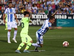ليجانيس يسقط برشلونة في دقيقتين