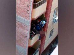 مصري يلقي زوجته من شرفة المنزل بسبب مشادة كلامية