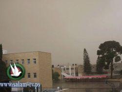 بالصور : مشاهد من مدينة طولكرم في ظل الامطار