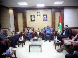 محافظ طولكرم عصام أبو بكر يلتقي ممثلي فصائل العمل الوطني