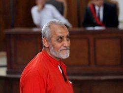 مصر تحكم بالمؤبد على مرشد الإخوان المسلمين
