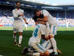 ريال مدريد يحصد فوزا صعبا على ألافيس بثنائية سيبايوس